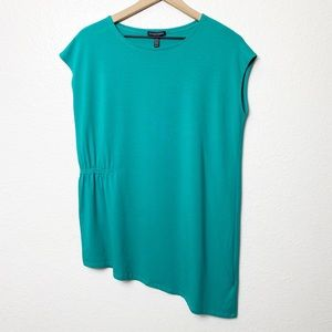 Eileen Fisher Turquoise Viscose Jersey Top XS